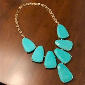 Kendra Scott teal gold Harlow necklace
